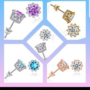 FASHION UNIQUE Jewelry - Men's N Women's Gold Plated Cubic Zirconia Crysta